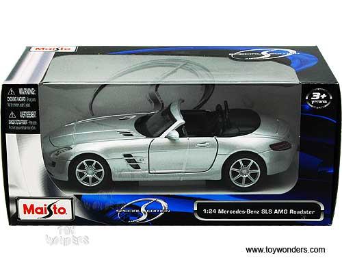 Mercedes benz sls amg roadster convertible 31272sv 1 24 for Mercedes benz sls amg toy car