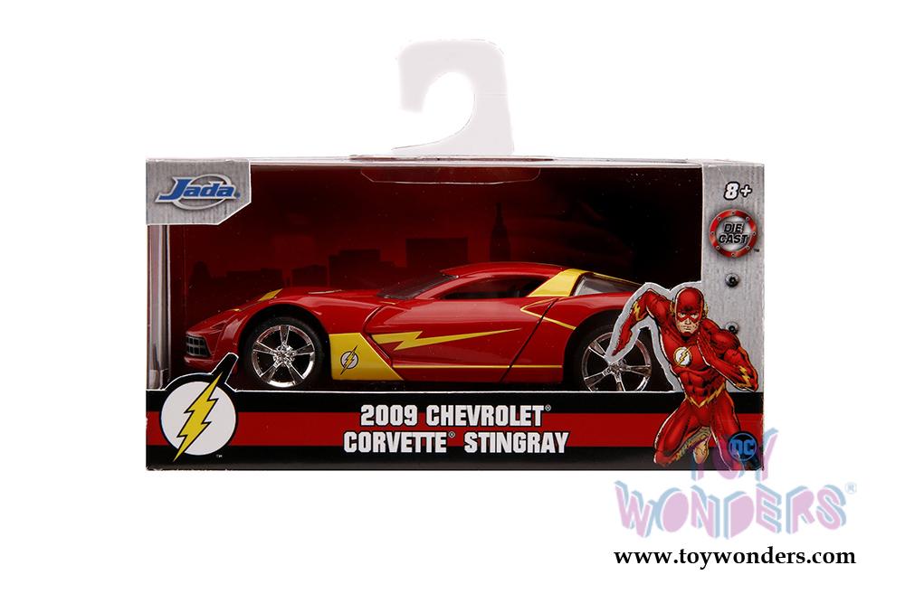 "Jada 2009 Chevrolet Corvette Stingray /""The Flash/"" 1//32 Red and Yellow 31610"