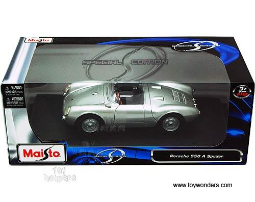 Porsche 550 A Spyder Convertible 31843sv 1 18 Scale Maisto Wholesale Diecast Model Car