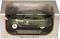 Show product details for Signature Models - Chrysler Airflow US Army Issued (1936, 1:32, Green) 32519GN