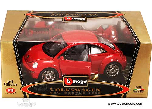 volkswagen  beetle hard top  bburago gold  scale diecast model car wholesale