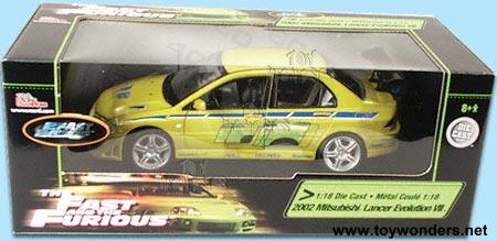 "diecast collector model cars ertl - ""2 fast 2 furious"" mitsubishi"