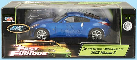 2003 the Fast & the furious nissan 350Z by RC2 ERTL ...