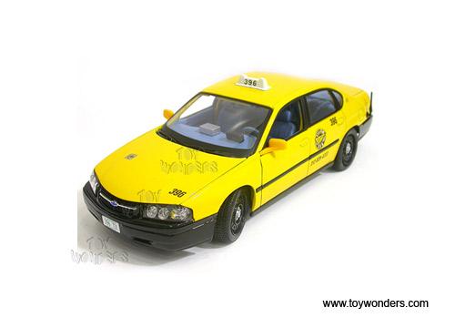 Diecast Collector Model Cars Maisto Chevy Impala Yellow Cab 1