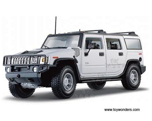 2003 Hummer H2 SUV Blanco 1:18 Maisto 36631