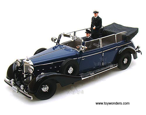 1938 mercedes benz 770k convertible w figures by for Miniature mercedes benz models