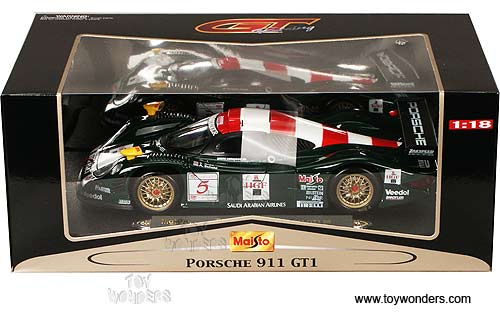 1998 porsche 911 gt1 by maisto 1 18 scale diecast model. Black Bedroom Furniture Sets. Home Design Ideas