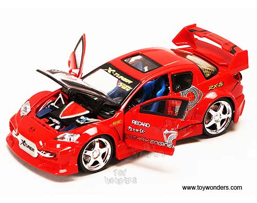 Boley Xtuner Mazda Rx 8 Hard Top W Sunroof Lights 1 24 Scale Cast Car Models Td 39358n