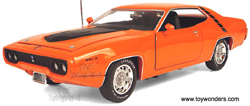 39397 ERLT 1971 Plymouth Road Runner Diecast Model Collection Car