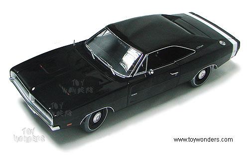 Dodge Charger 1969 Black. RC2 ERTL Authentics - Dodge