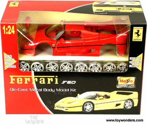 maisto model kit ferrari f50 1 24 red toy wonders inc. Black Bedroom Furniture Sets. Home Design Ideas