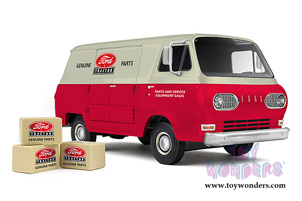 First Gear - Ford Tractor Ford Econoline Van (1/25 scale diecast model car,  Red/Beige) 40-0384