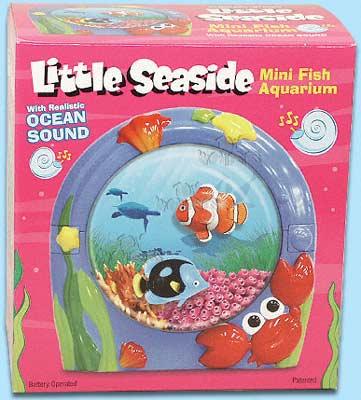 Dytoy little seaside fish aquarium 4015b toy wonders inc for Little fish toys