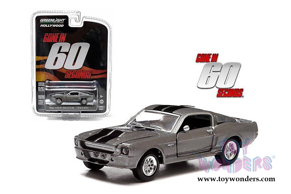 greenlight eleanor 1967 custom ford mustang gone in 60 seconds 2000 44742 1 64 scale. Black Bedroom Furniture Sets. Home Design Ideas