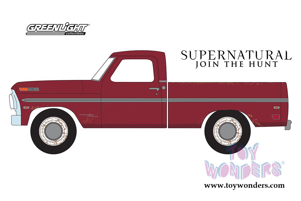 GREENLIGHT 1//64 HOLLYWOOD #20 1969 Ford F-100 Supernatural TV Series 44800-F