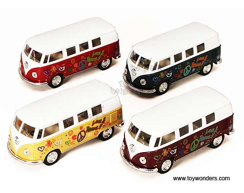 Kinsmart - Volkswagen Classic Bus with Decals (1962, 1:32, Asstd.) 5060DF
