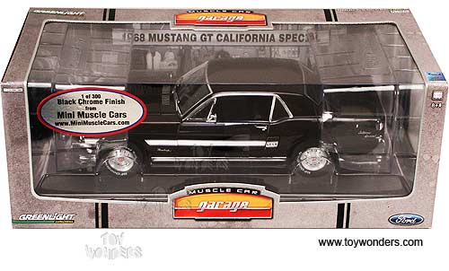 Greenlight Muscle Car Garage - Ford Mustang GT California Special Hard Top (1968, 1:18, Black) 50804