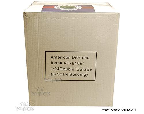Diecast collector model cars american diorama buildings for American garage builders