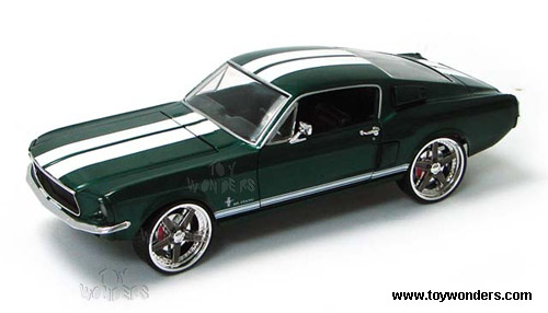 Ertl Joyride The Fast And The Furious Ford Mustang Hard Top   Scale Cast Metal Model Car Green A