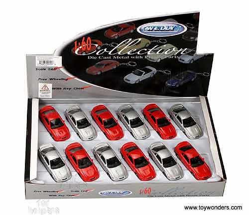 Welly Ford Mustang Gt Hard Top Key Chains 1994 1 60