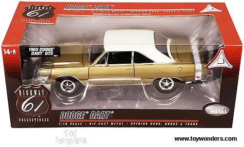 Highway 61 - Dodge Dart GTS (1969, 1:18, Gold) 60148