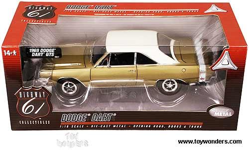Highway 61 - Dodge Dart GTS (1969, 1:18, Gold) 60148