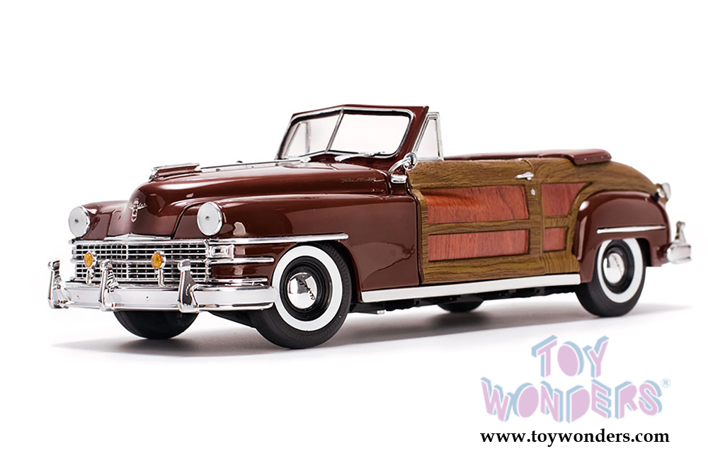 1948 chrysler town country convertible 6143 1 18 scale sun star wholesale diecast model car. Black Bedroom Furniture Sets. Home Design Ideas
