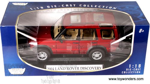 Motormax Cast Cars Land Rover Discovery Suv 2004 1 18 Scale Car Models Red 73139