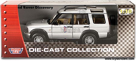 Motormax Cast Cars Land Rover Discovery 1 18 Scale Car Models Silver 73139