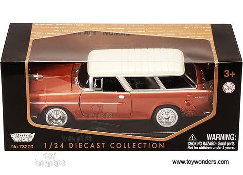 1955 CHEVROLET NOMAD YELLOW 1:24 DIECAST CAR MODEL BY MOTORMAX 73248