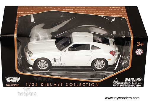 Motormax - Chrysler Crossfire Hard Top (1:24, White) 73283W