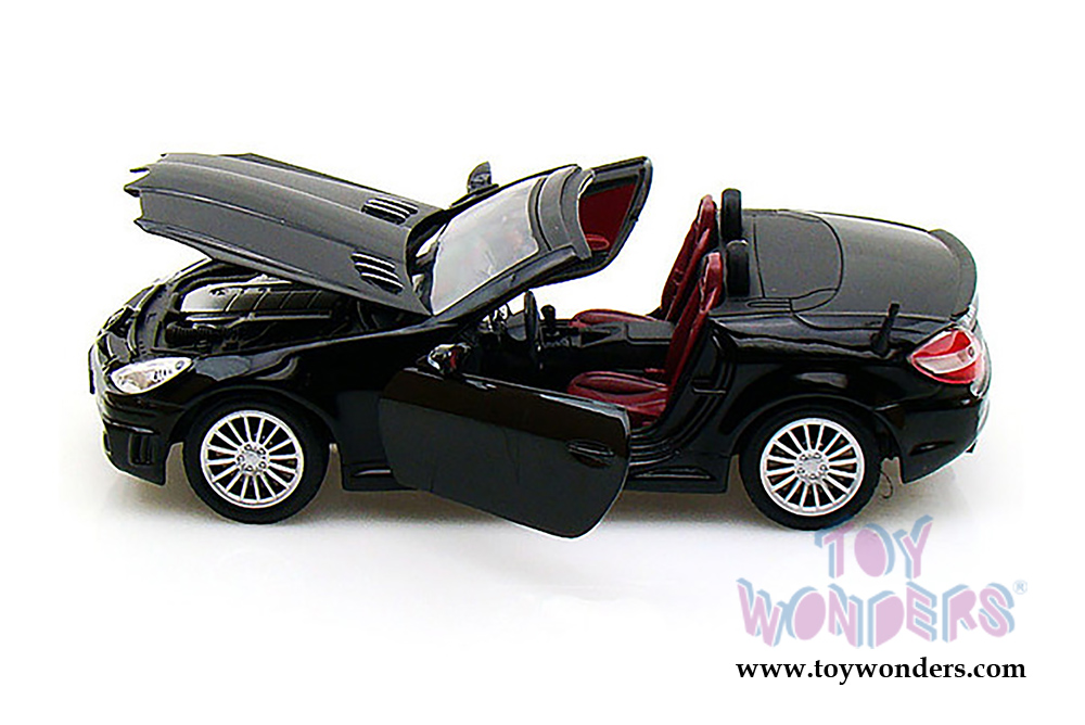 mercedes benze slk55 amg convertible 73292bk 6 1 24 scale