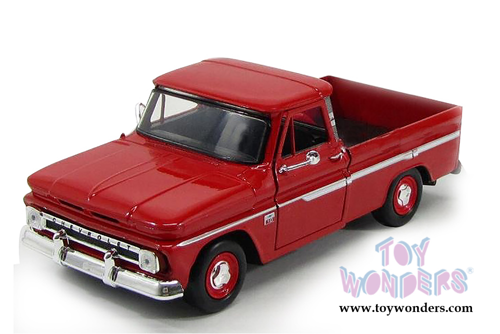 6ac9bb26fa993 1966 Chevy C10 Fleetside Pickup Truck 73355AC R 1 24 scale Showcasts  Collectibles wholesale diecast model car