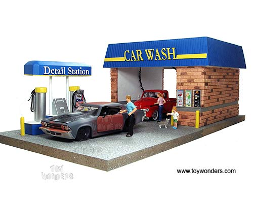 Toy Model Buildings : American diorama buildings car wash with