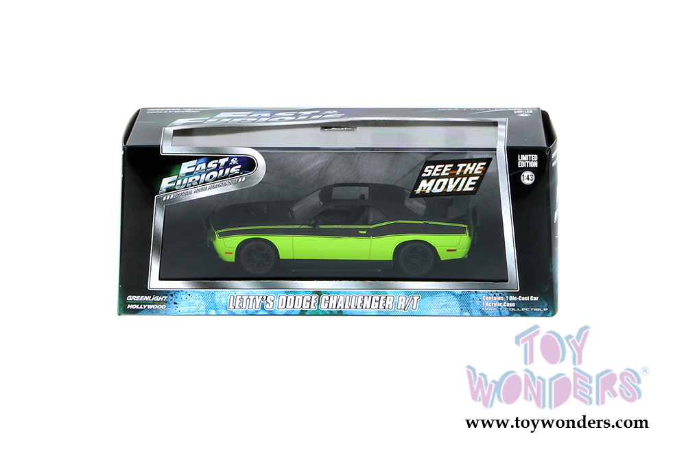 Greenlight Letty/'S DODGE Challenger R//T Fast /& Furious 1:43 L.E Diecast 86230