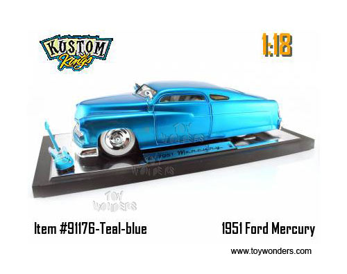 Jada Toys Kustom Kings - Mercury w/ Guitar (1951, 1:18, Blue) 91176BU