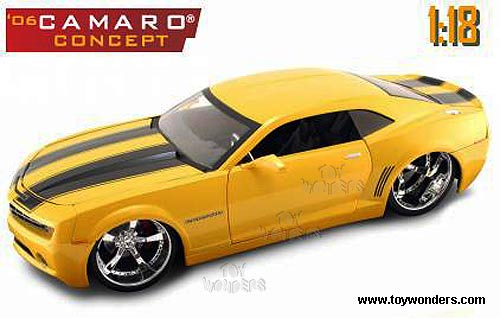 Jada Toys Chevy Camaro Concept Hard Top 2006 1 18 Yellow 91781