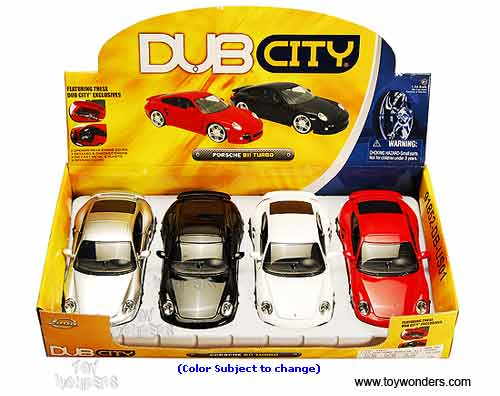Jada Toys Dub City Porsche 911 Turbo Hard Top 1 24 Asstd