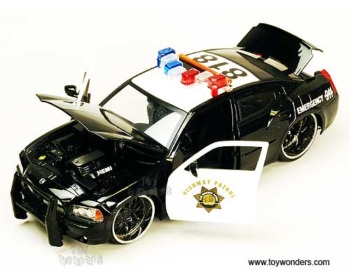 Jada Toys Heat - Dodge Charger R/T Police (2006, 1:24, Black) 91985