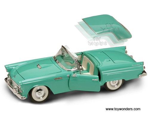 Yat Ming Diecast Cars - Ford Thunderbird Convertible w/ Removable Bonnet (1955 1/18 scale diecast car models Turquoise) 92068  sc 1 st  Toy Wonders Inc. & Diecast Collector Model Cars Yatming - Ford Thunderbird ... markmcfarlin.com