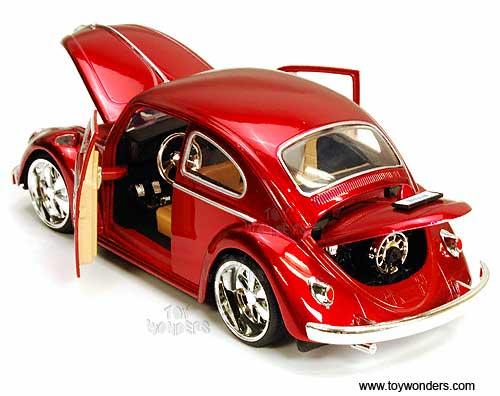 volkswagen beetle hard top  jada toys bigtime kustoms  scale diecast model car