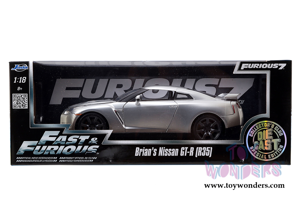 Jada Toys Fast Amp Furious Brian S Nissan Gt R Hard Top 97255 1 18 Scale Diecast Model Car