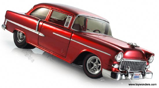 1955 Chevy Bel Air By Hot Wheels 118 Scale Diecast Model Car
