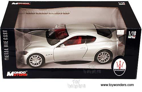mondo motors - maserati gran turismo hard top (1:18, silver) mo50041