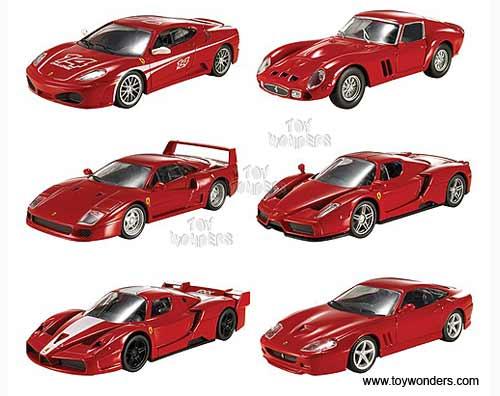 Ferrari Racer Toy Diecast Cars Assortment By Mattel Hot