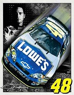 Jimmie Johnson #48 NASCAR Metal Sign