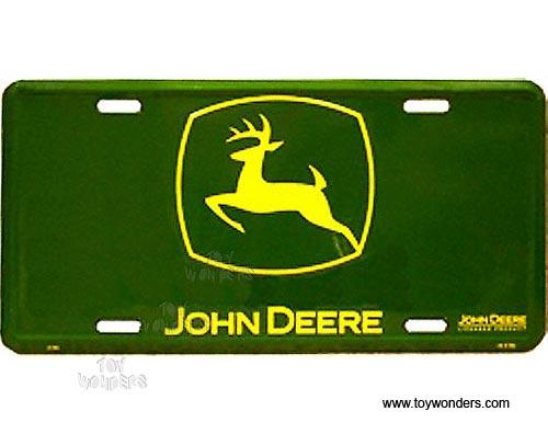 John Deere Tractor Plates : License plate john deere logo farm tractor green sign sljd