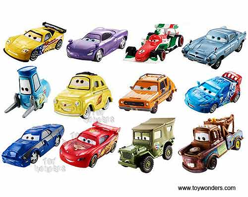 Cars Toon Character Vehicle Toy Diecast Cars Assortment By Mattel