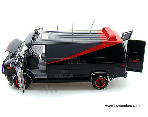gmc the a team van v7439 9964 1 18 scale mattel hot wheels. Black Bedroom Furniture Sets. Home Design Ideas