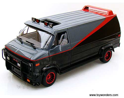 gmc the a team van by mattel hot wheels elite 20th century. Black Bedroom Furniture Sets. Home Design Ideas